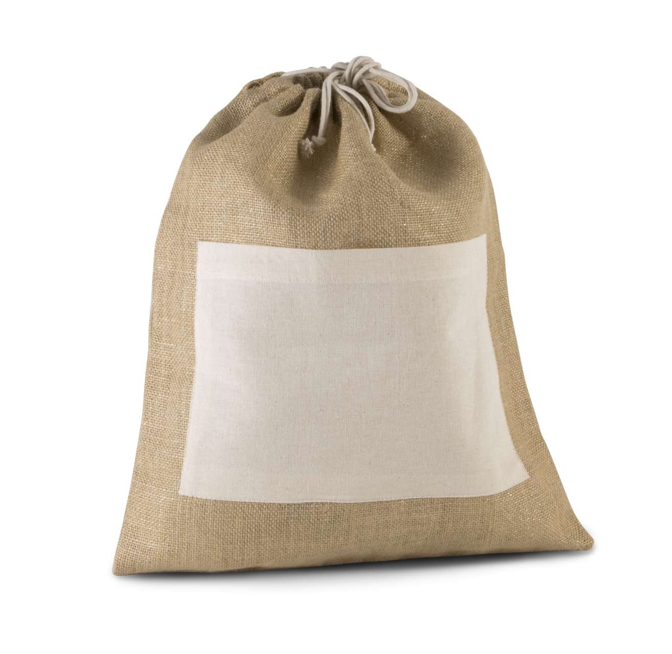 JUTE DRAWSTING BAG