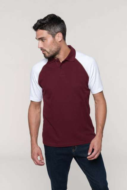 POLO BASE BALL - CONTRAST POLO SHIRT
