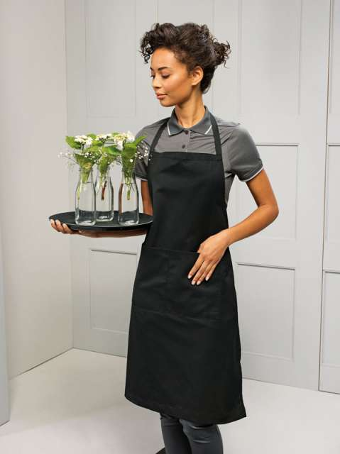 BIB APRON POLYESTER COTTON (WITH POCKET)
